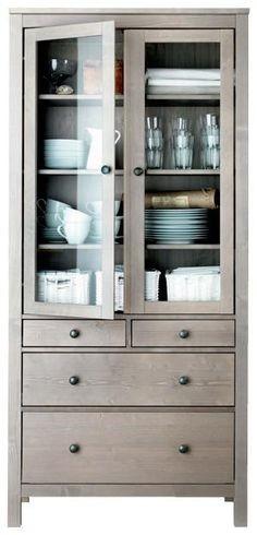 Mueble Tipo Hemnes Ikea Gabinete Puertas De Vidrio   1499900 en Mercado Libre