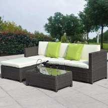 Muebles De Ratan Para Jardin Set - 15 645.00 En Mercado