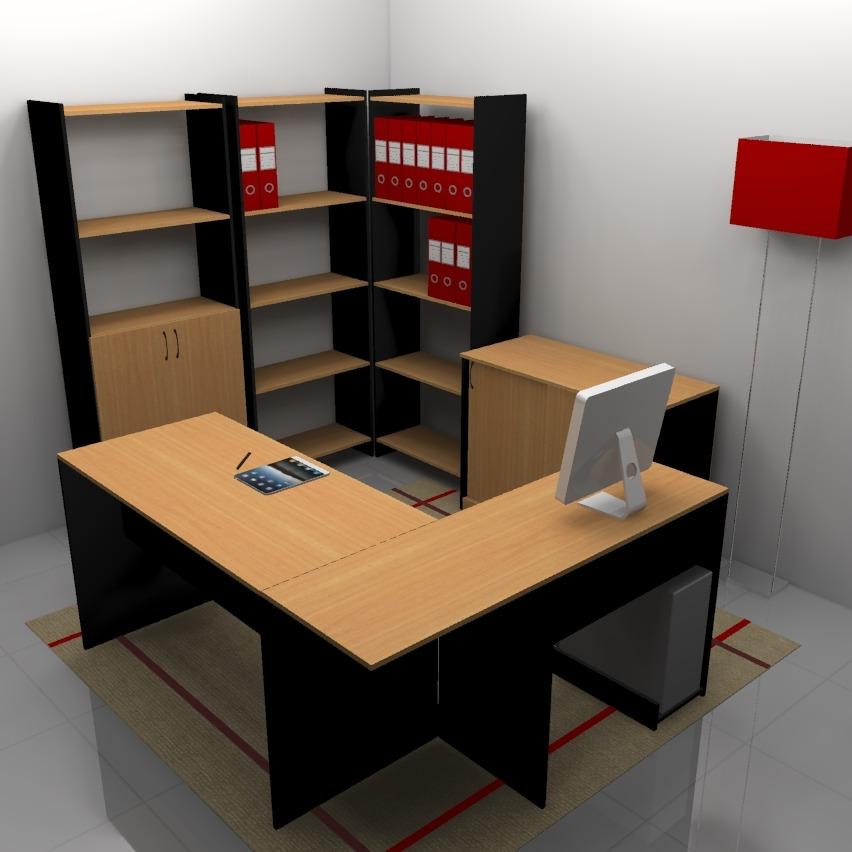 Escritorios Mesas Pc Muebles De Oficina Combo 011combo