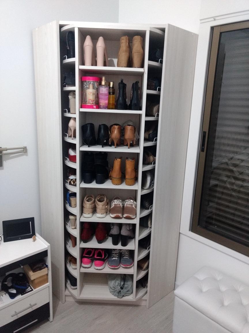 Muebles Organisador De Zapatos Giratorio 60 Pares 2x80x80