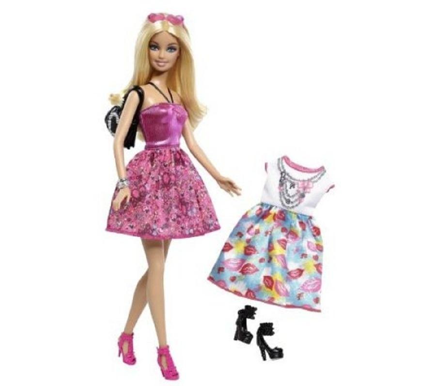 Mueca Barbie Con Vestidos Y Accesorios Exclusiva   1