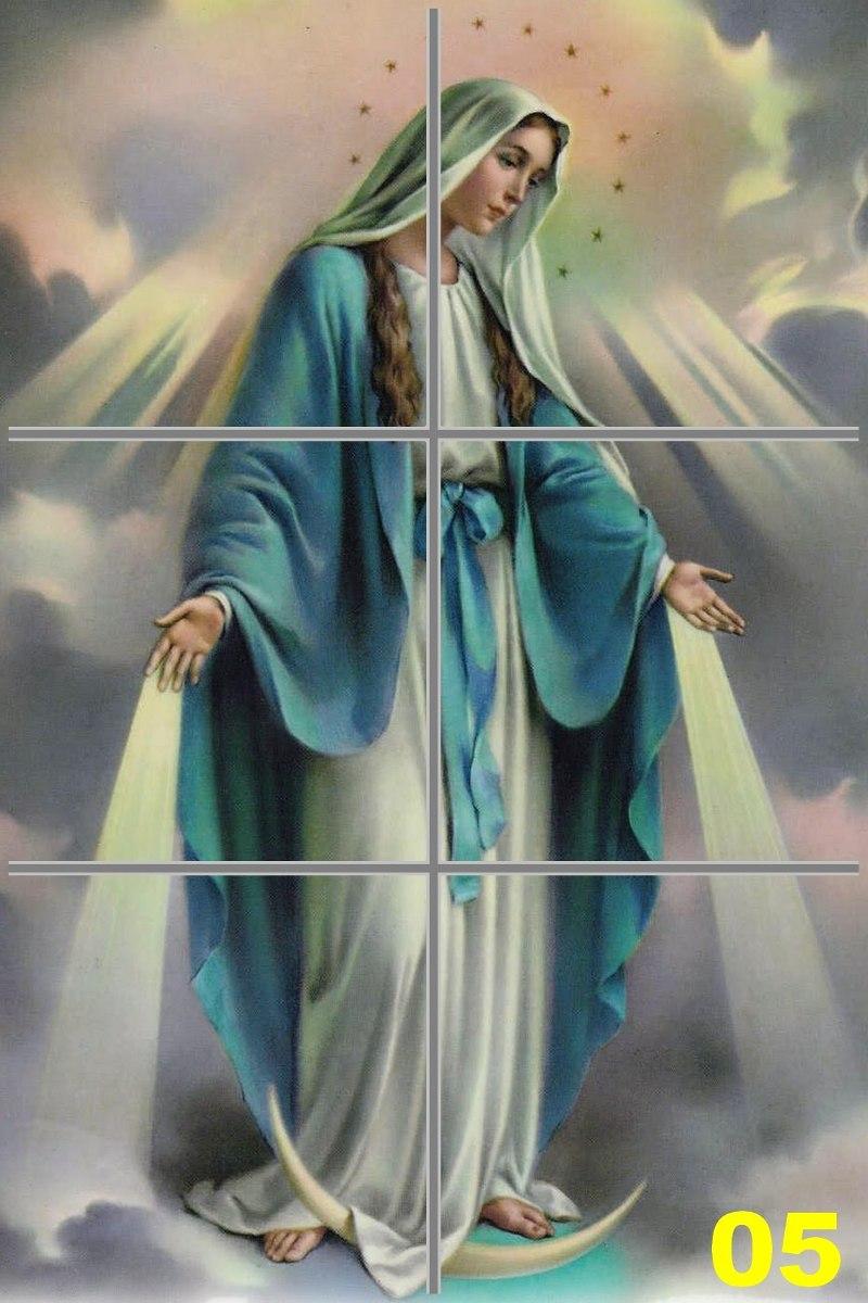 Nossa Senhora Das Graas  Quadro Cermica Azulejo
