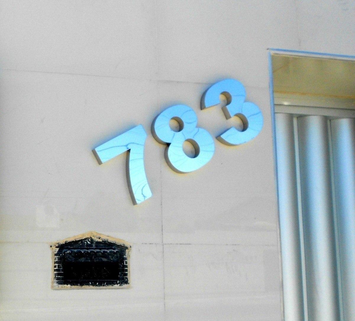 Numero Ao Inox 304 Espelhado Polido Residencial Casa 10cm  R 1945 em Mercado Livre