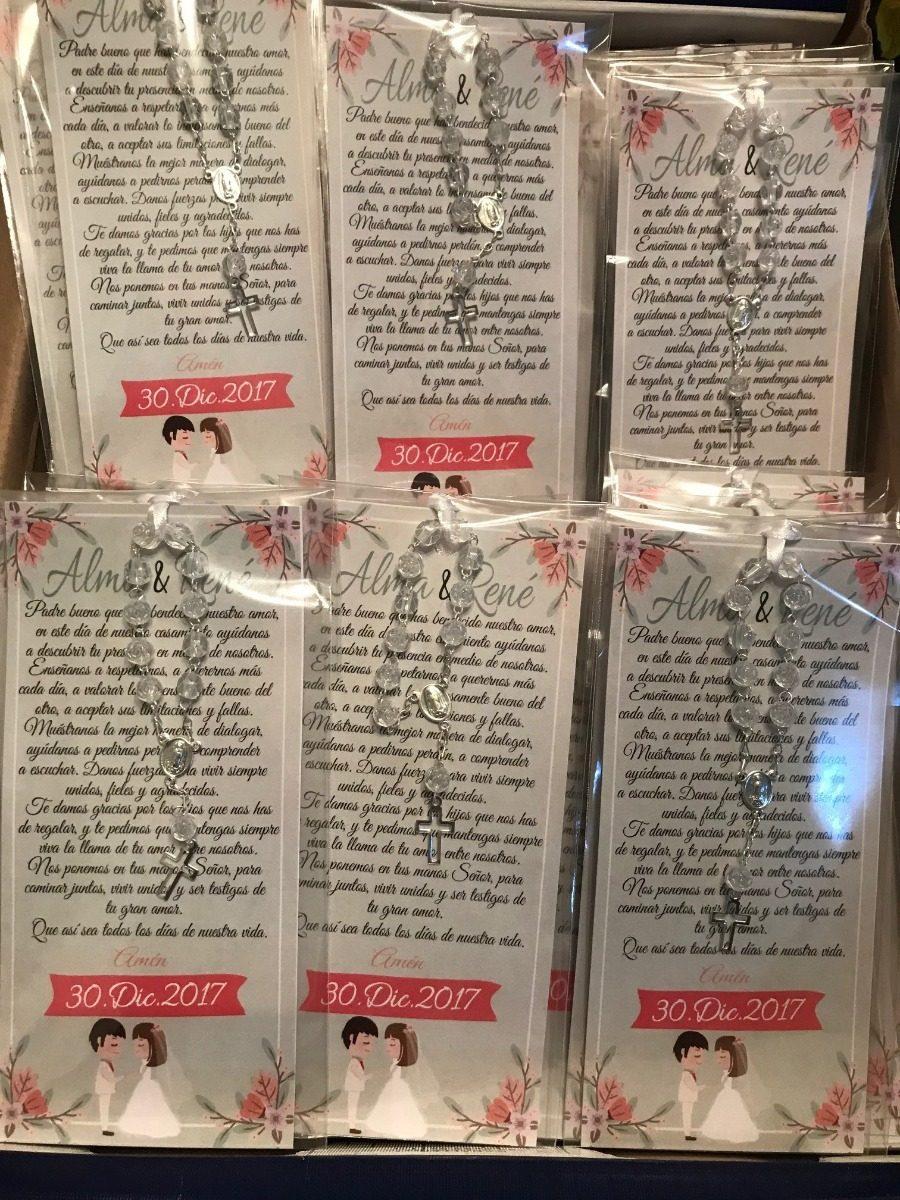 Oraciones Personalizadas Con Decenariorecuerdo Boda Xv Aos   1300 en Mercado Libre