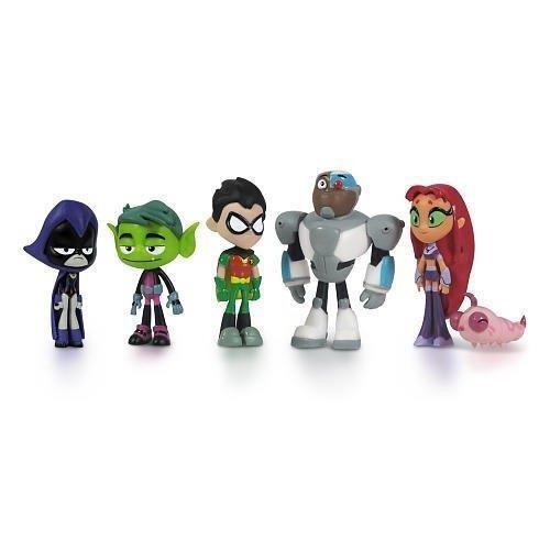 Os Jovens Tits Kit Mini Figuras Com 6 Personagens