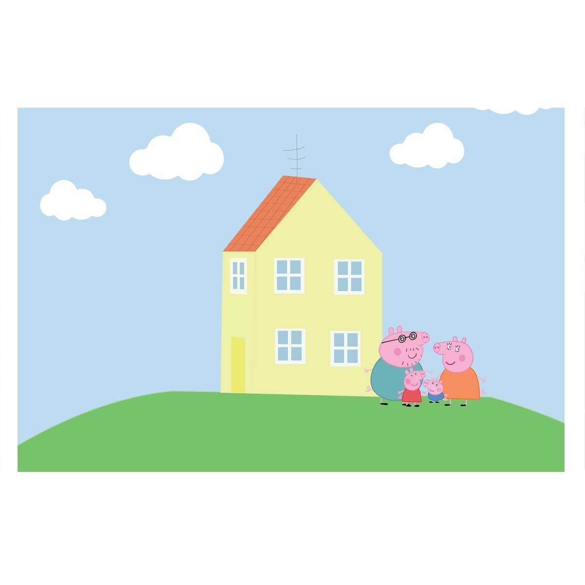 Painel Decorativo Festa Infantil Peppa Pig Casa  R 5500