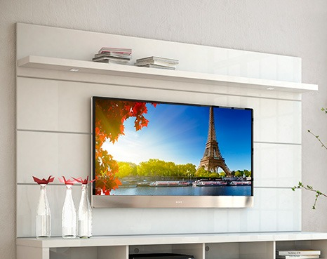 Panel Mueble Tv Led 60 Soporte Pared Horizon Armado Y