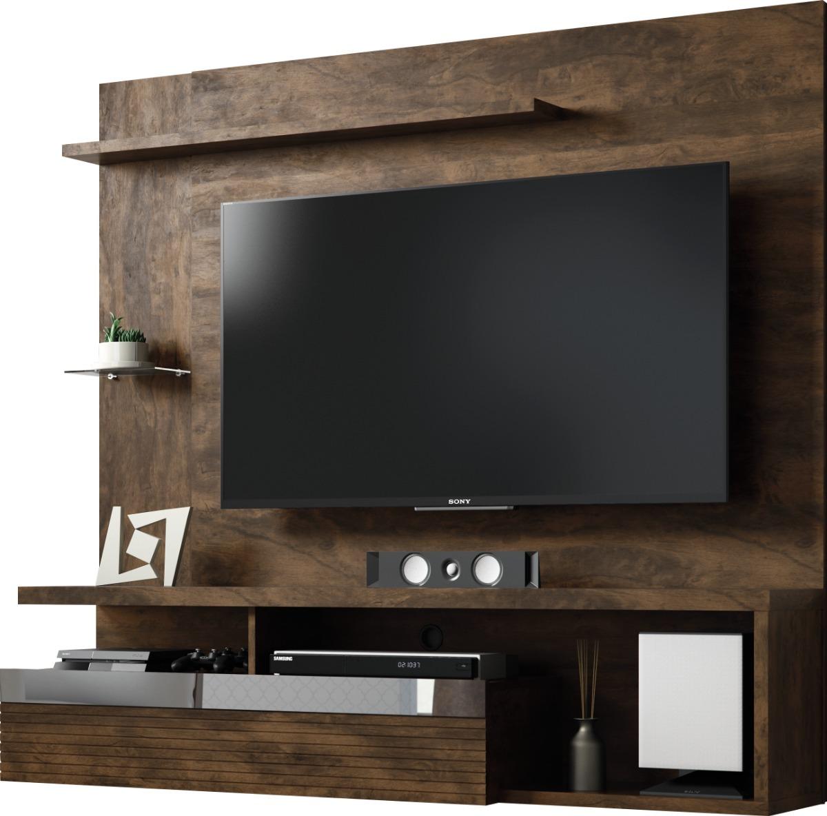 Panel Para Tv Tijuca Cacau Mueble Para Tv Moderno Salas