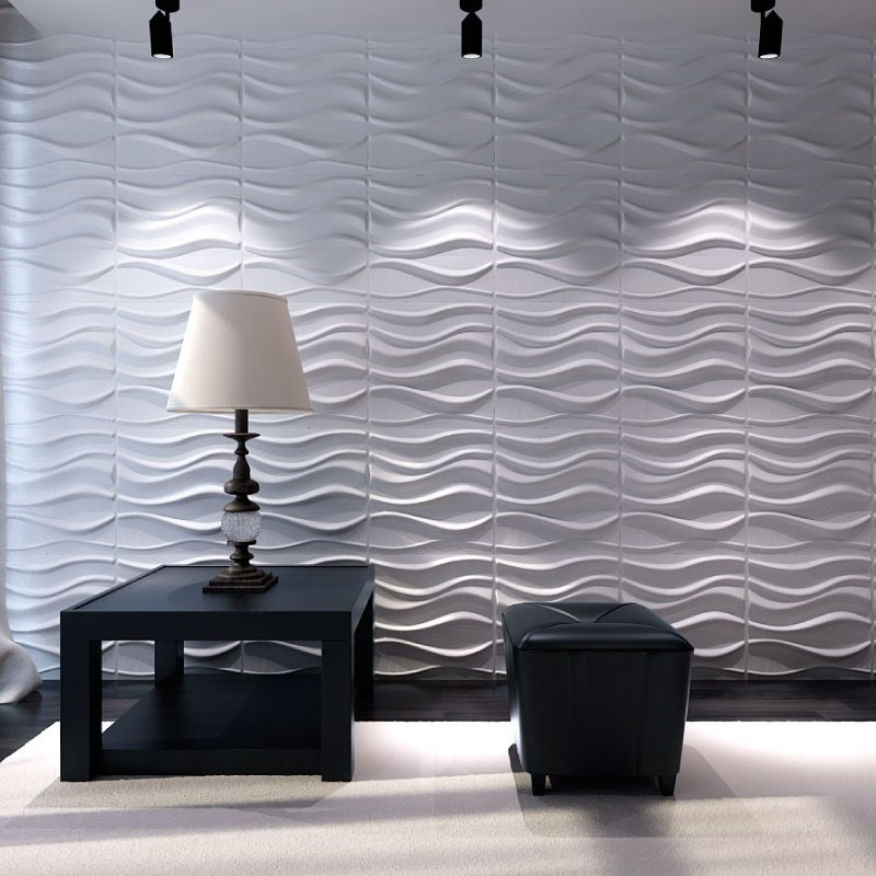 Paneles Decorativos 3d Para Paredes Ondas Material