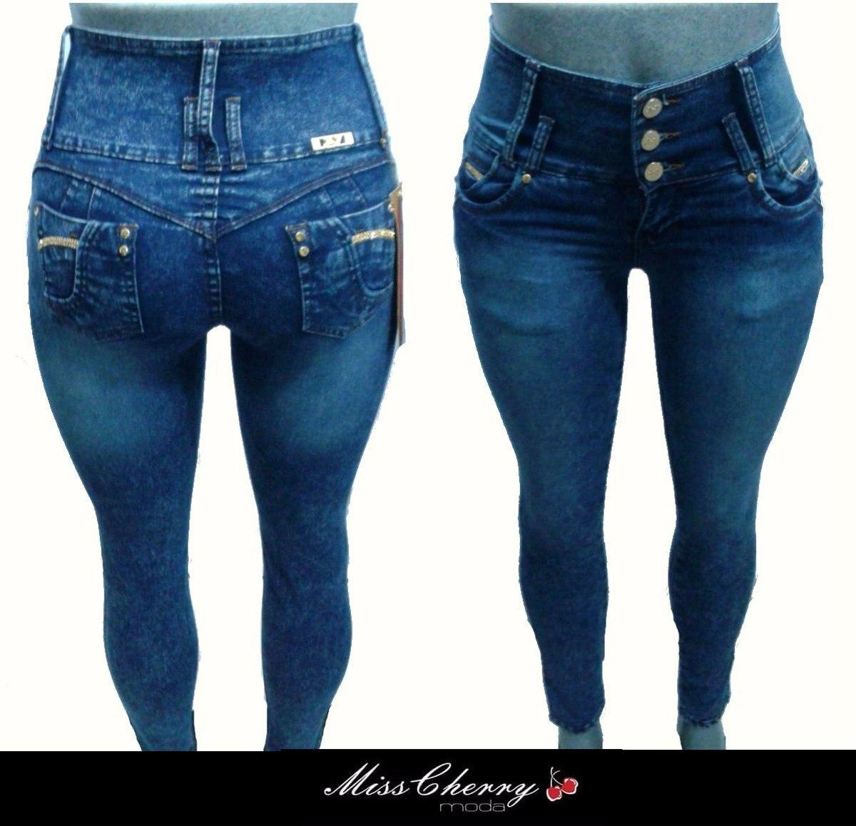 Pantalones Colombianos Levanta Pompa Cristales Jeans Mayoreo - $ 430.00 en Mercado Libre