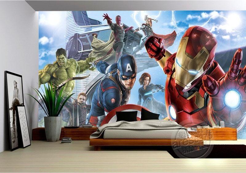 Papel De Parede Adesivo Herois Novos Vingadores Hulk Thor