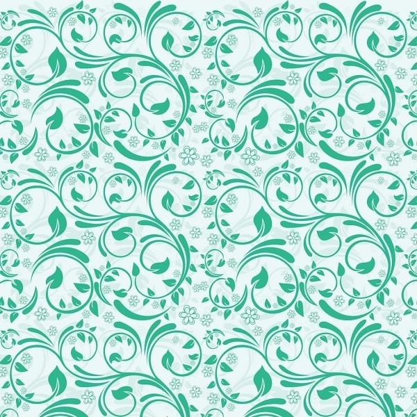 Papel De Parede Arabesco Floral Verde gua  Tipo Contact