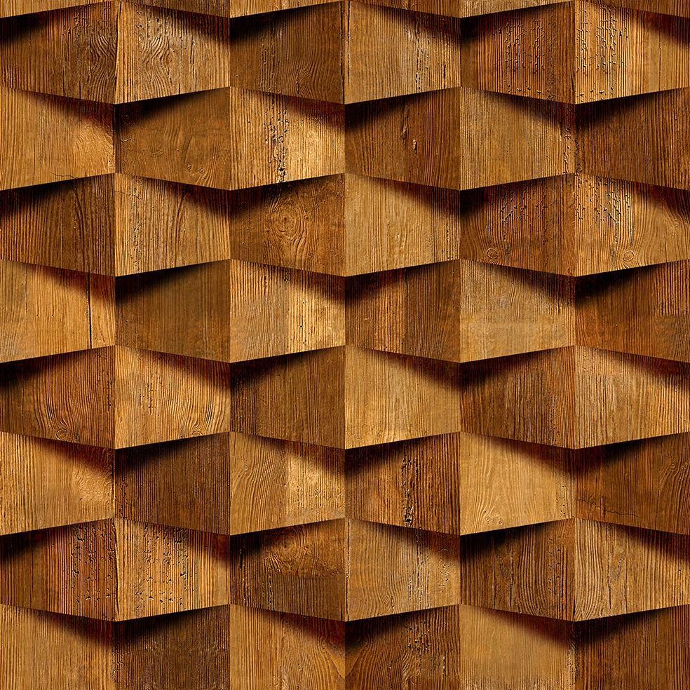 Papel Parede Pedra Efeito 3d Madeira Autocolante 3 M  R