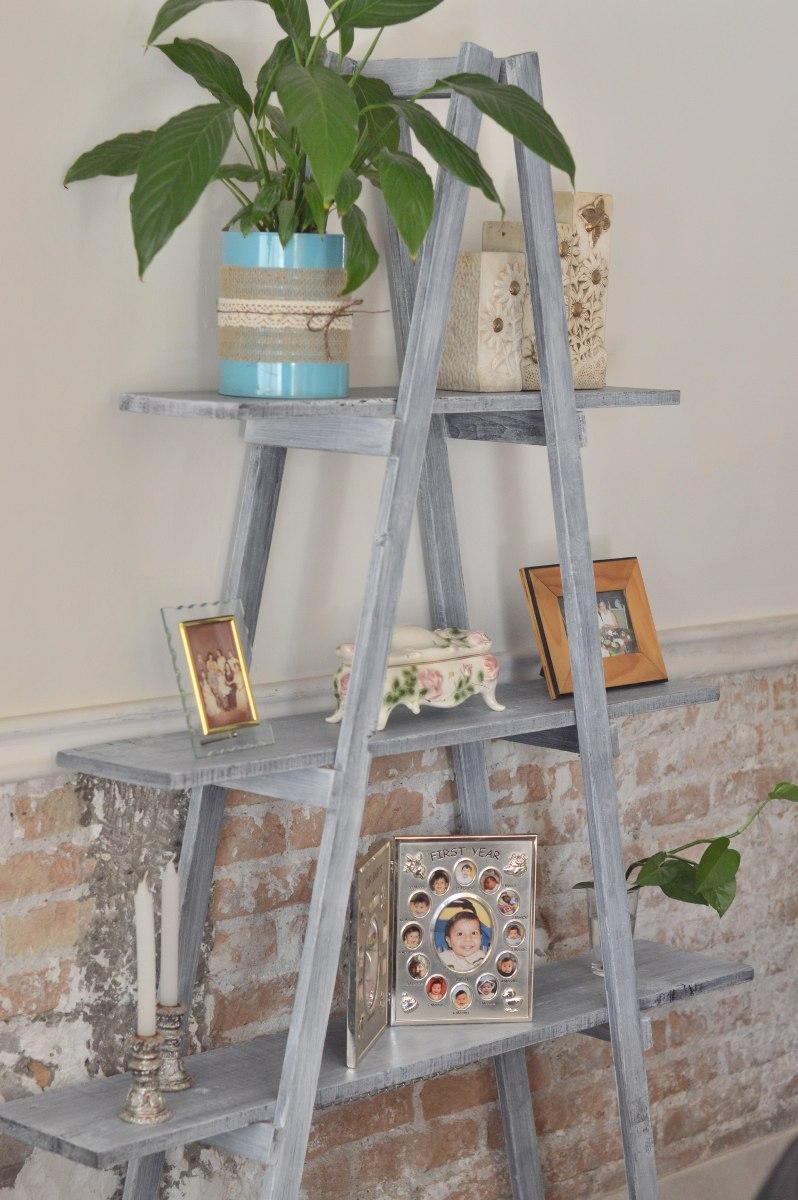 Paquete Con 3 Escaleras Decorativas Vintage 100 Madera
