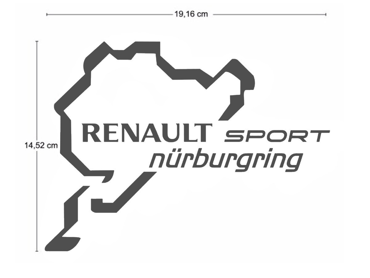 Par Adesivo Renault Sport Nurburgring Sandero Duster Logan