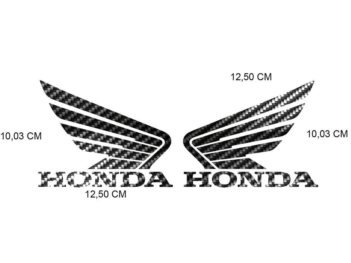 Par Emblema Adesivo Tanque Honda Fan 125 Cg 150 160 Start