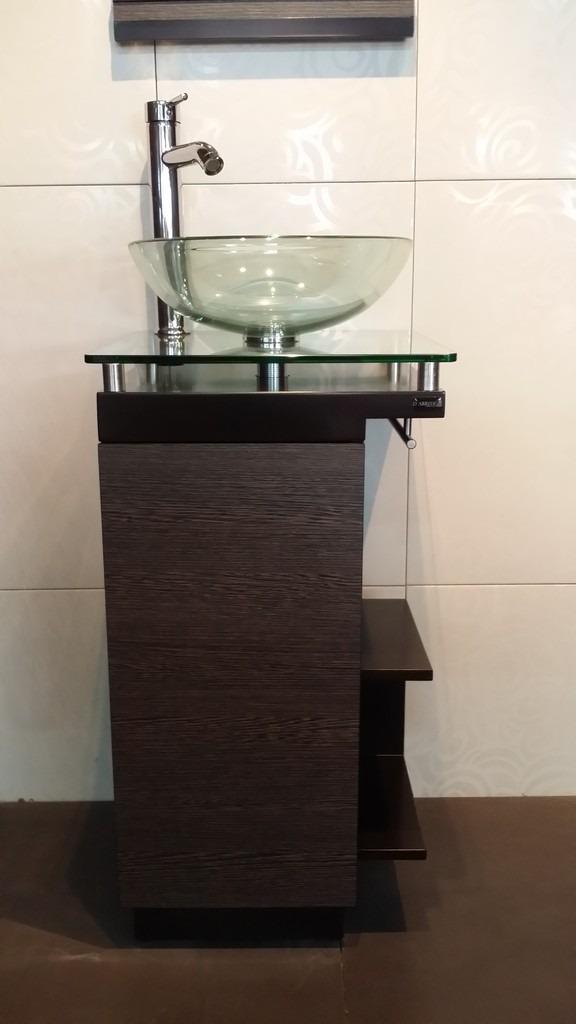 Moderno Mueble Para Bao Con Ovalin De Cristal Barato
