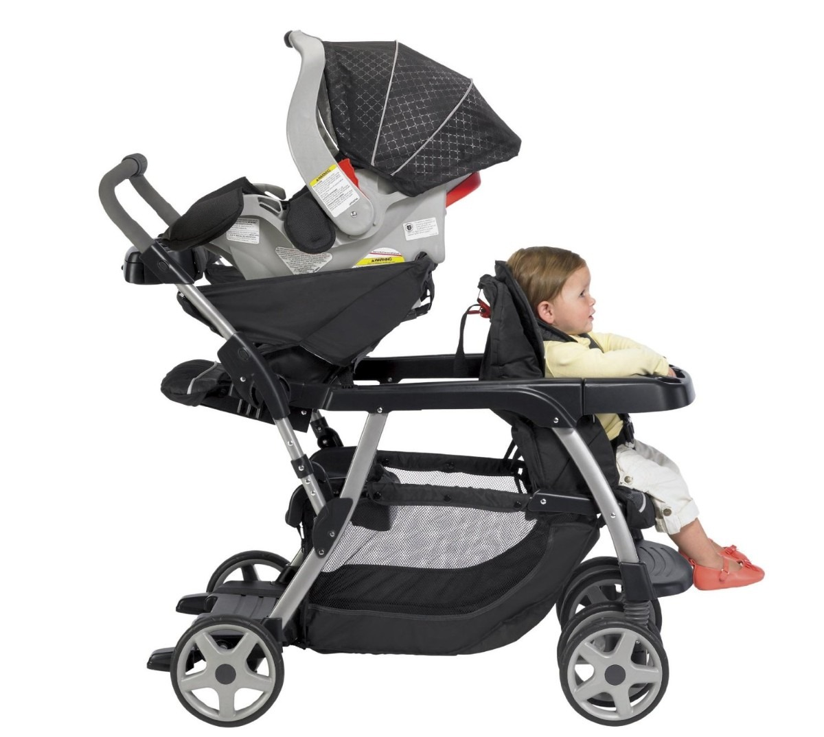Carreola Para Bebe Graco Doble Ready2grow Hm4   589900