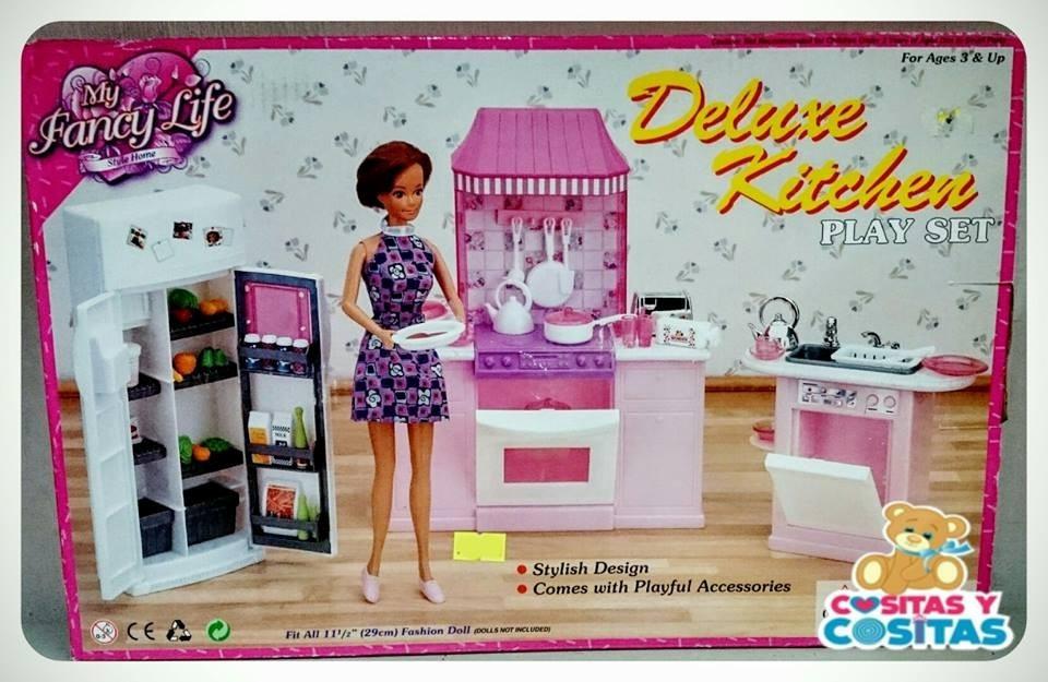 Mueble Para Casa De Muecas Barbie Cocina Mediana 9986