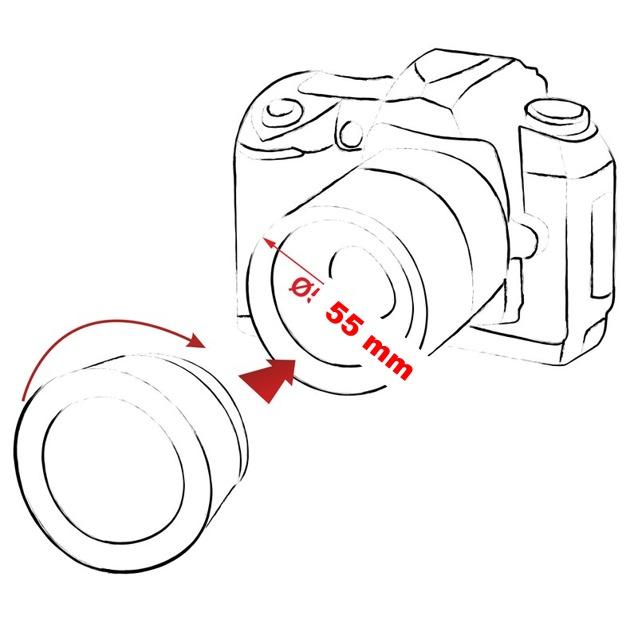 Gran Angular 55mm .43x Para Sony Nex-5n Nex-5r Nex-5t