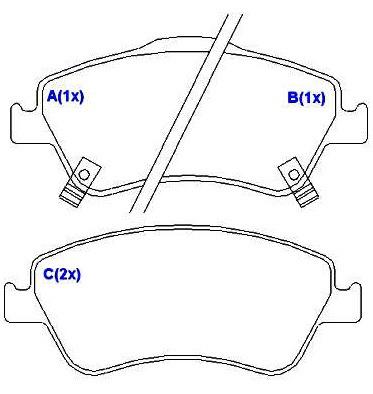 Pastilha Dianteira Toyota Corolla 1.8 Xei Manual 06-2008