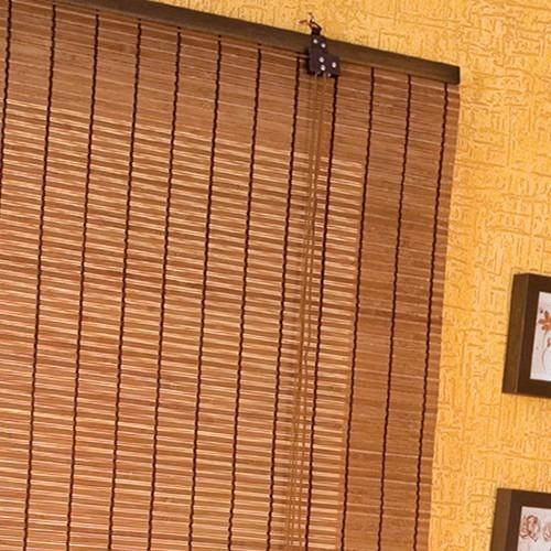 Persiana Cortina De Bambu Roller 100 X 160 Cm Mista Caf
