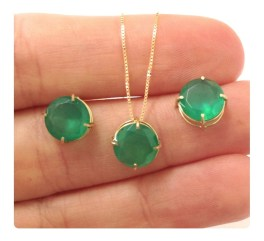 Pingente Crisopázio Pedra Verde Ouro 18k - R$ 799,90 em Mercado Livre