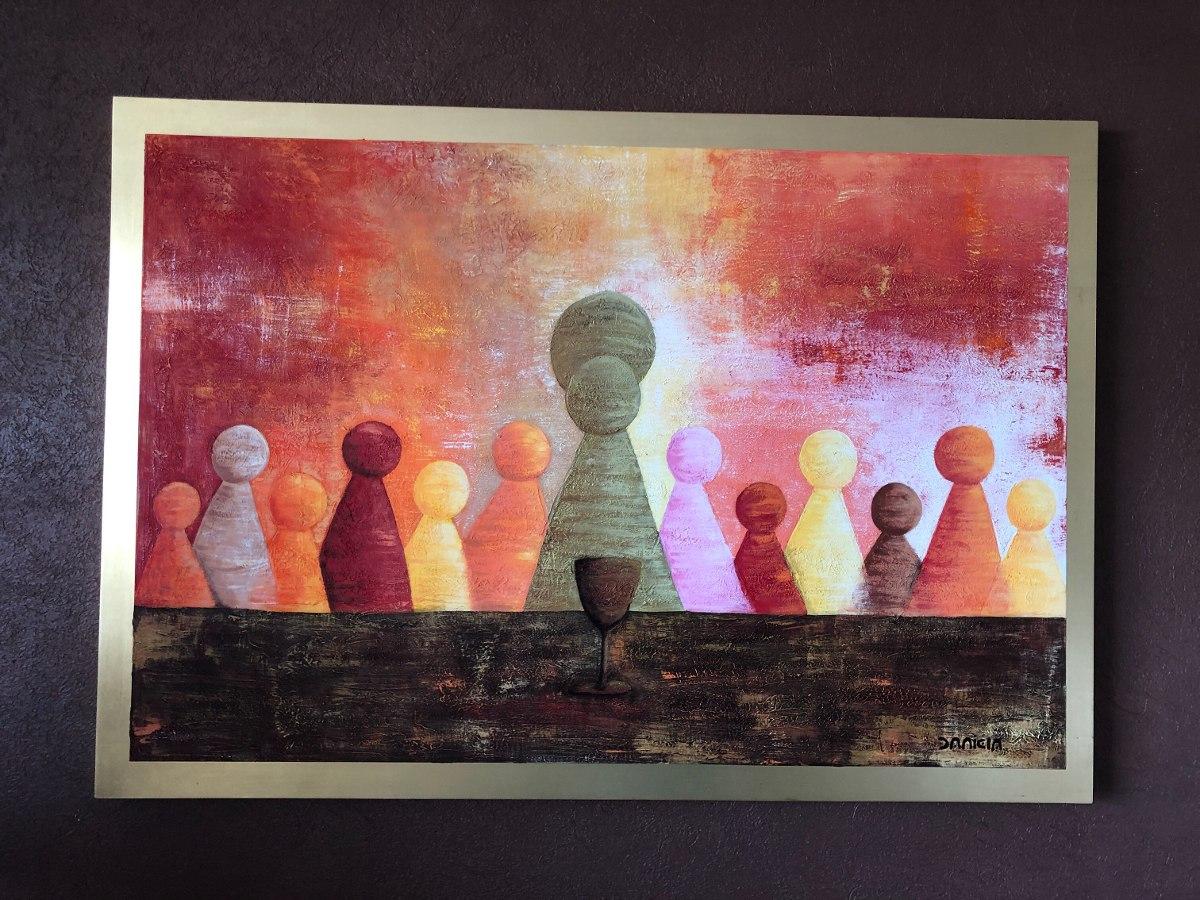 Pintura Cuadro De La ltima Cena Abstracto Y Moderno