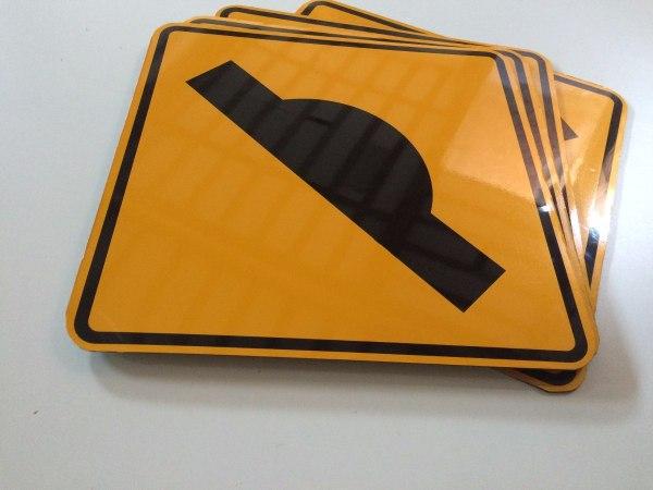 Placa De Sinaliza Refletivo Trnsito Acm 50x50cm - 68 00 Em Mercado Livre