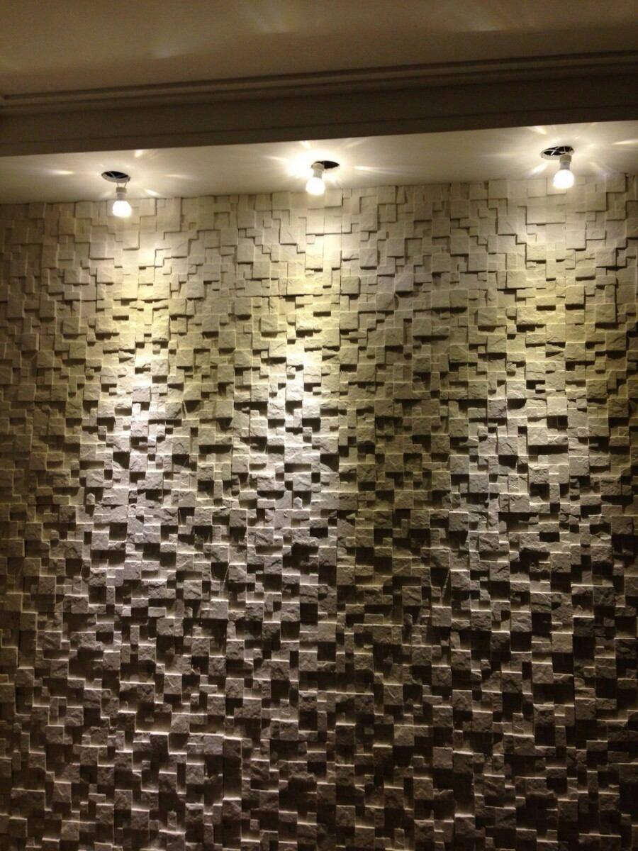 Placa Decorativa Mosaico Gesso 3d So Tom  R 399 em