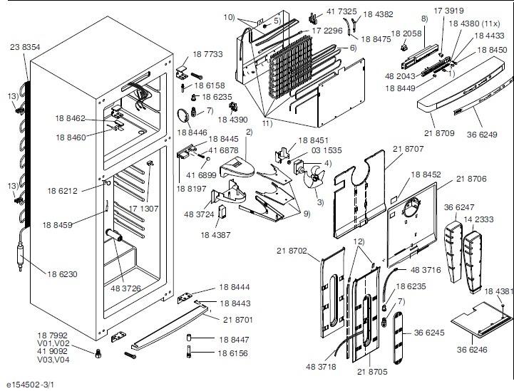 Placa Eletronica 127v 220v Geladeira Bosch Ksu40 Ksu43