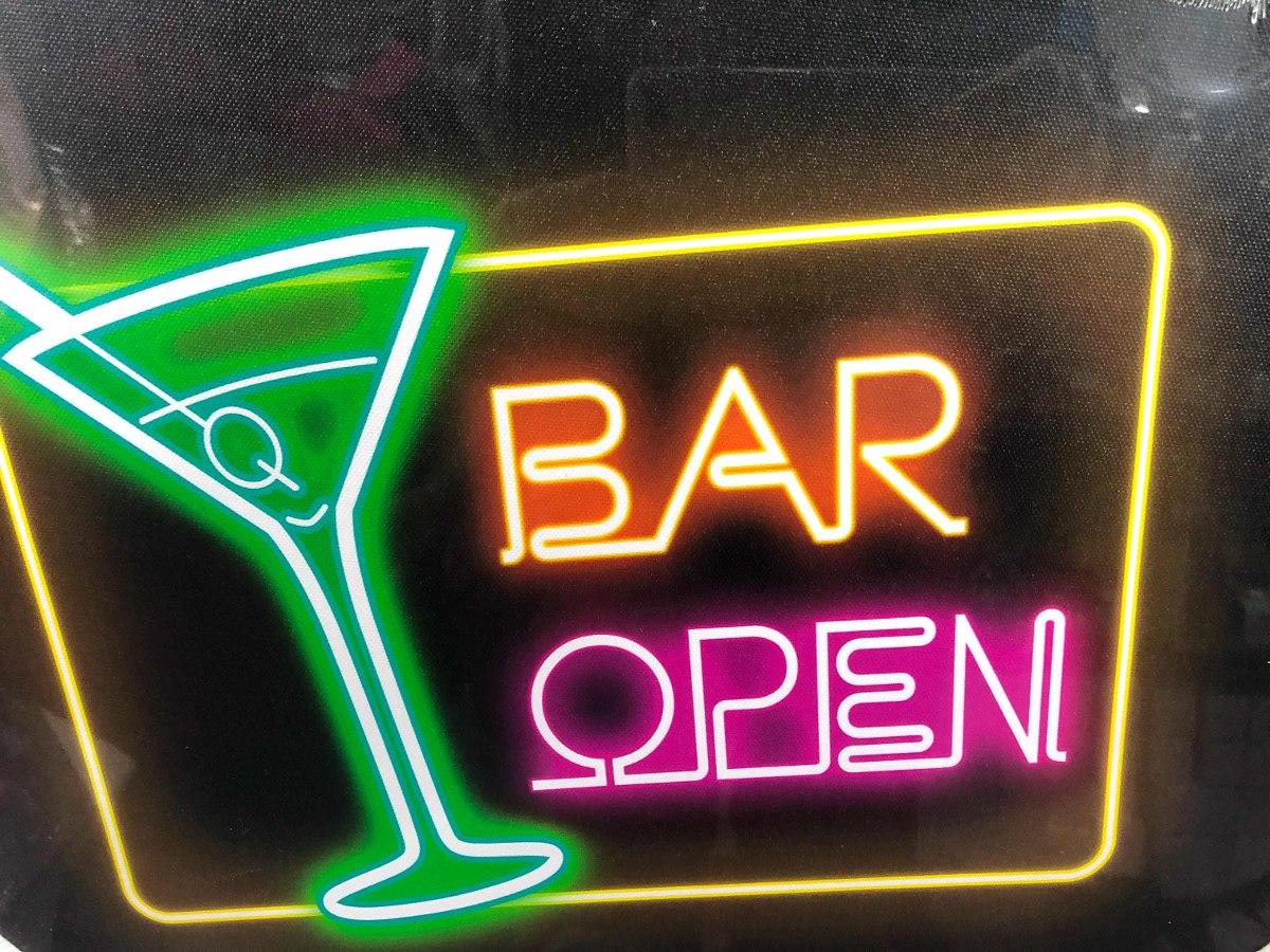 Placa Luminosa Open Bar  Quadro Luminoso Open Bar  R 80