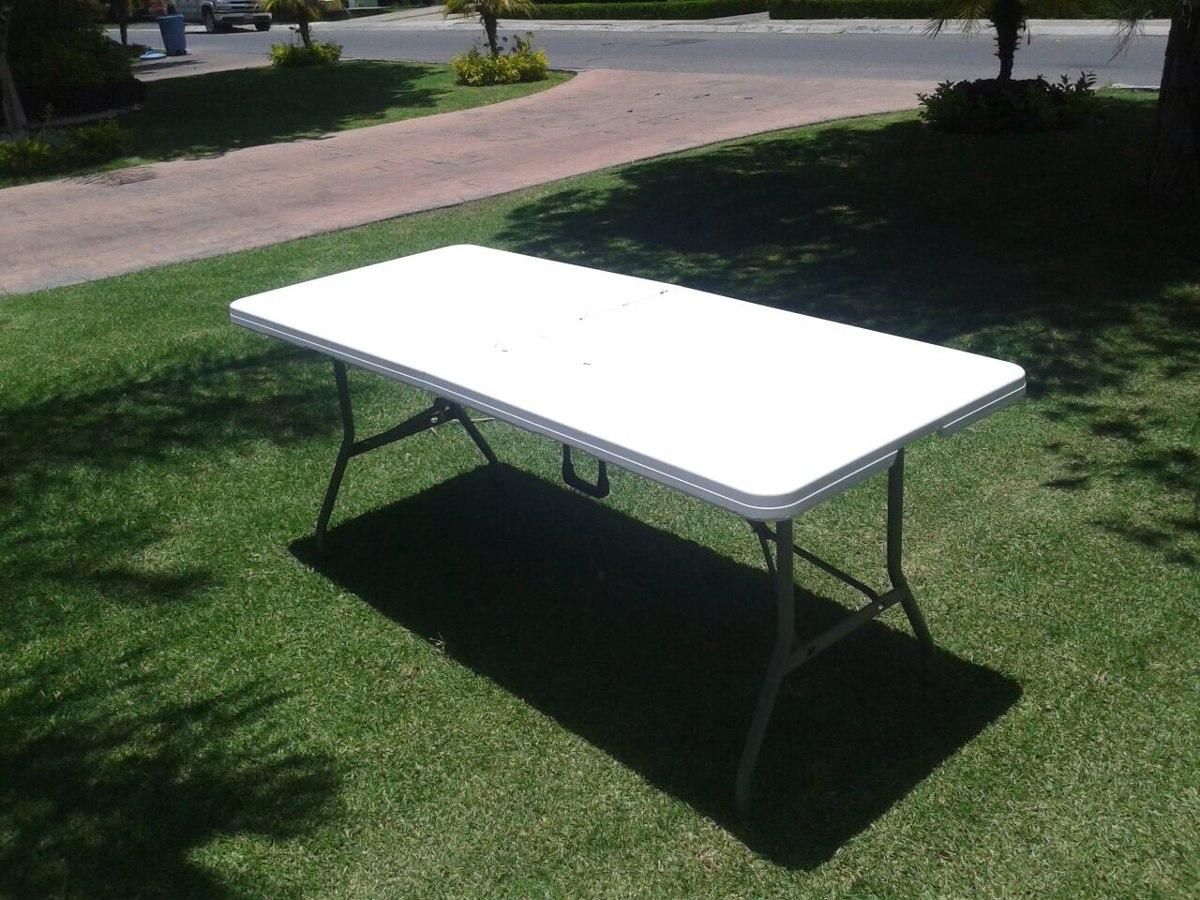 Mesa Plegable Plastico Reforzada Tip Portafolio 180m Jardin   115000 en Mercado Libre