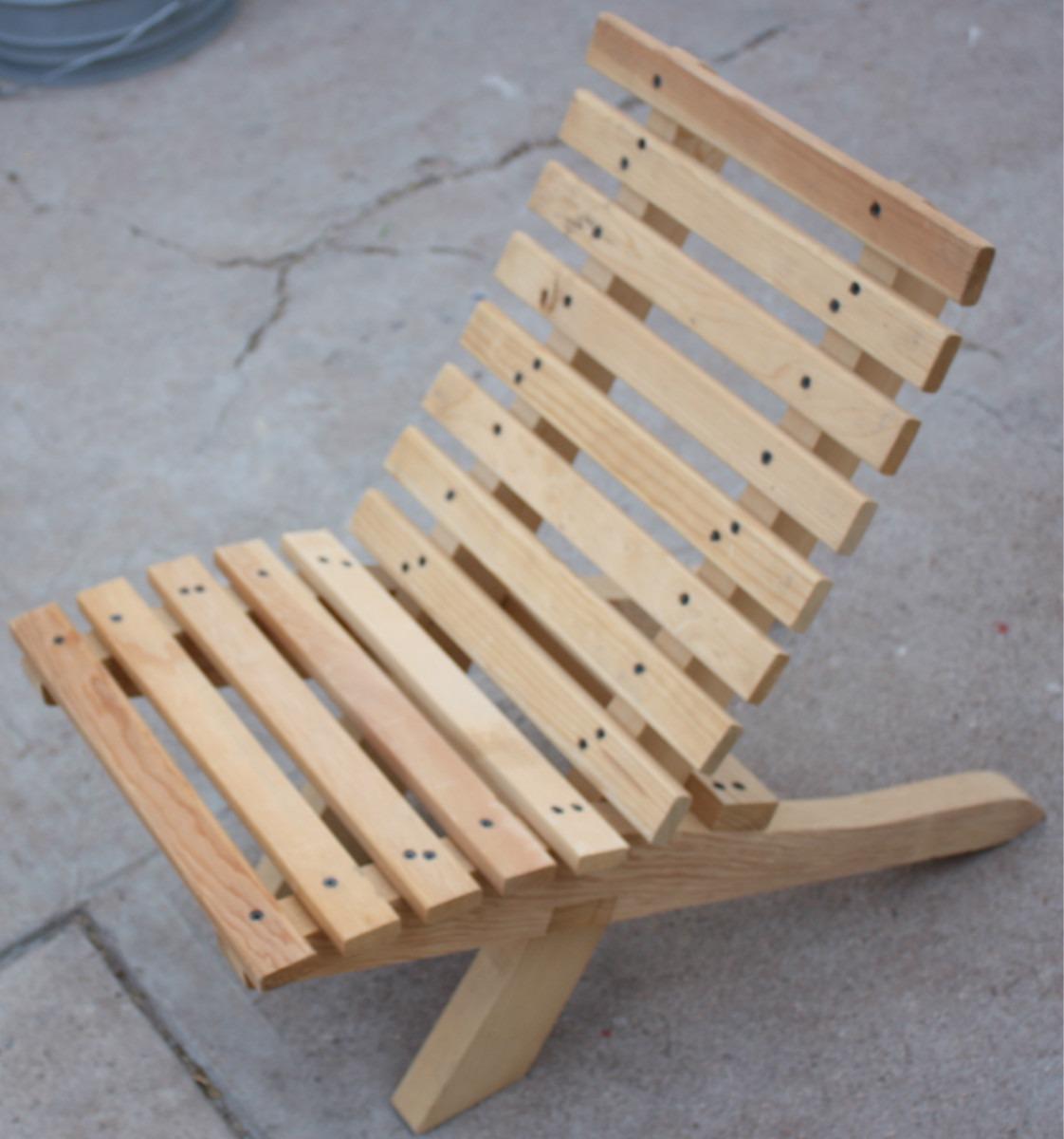 Silla Para Nio Mueble Plegable Madera Jardin O Interiores
