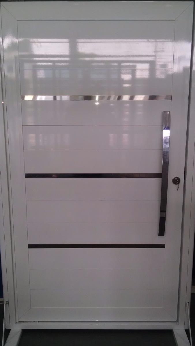 Porta Aluminio Branco Pivotante 210 X 120  R 249697