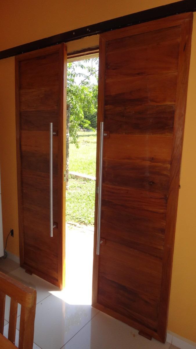 Porta De Correr Em Peroba Rosa madeira Macia  Por M2