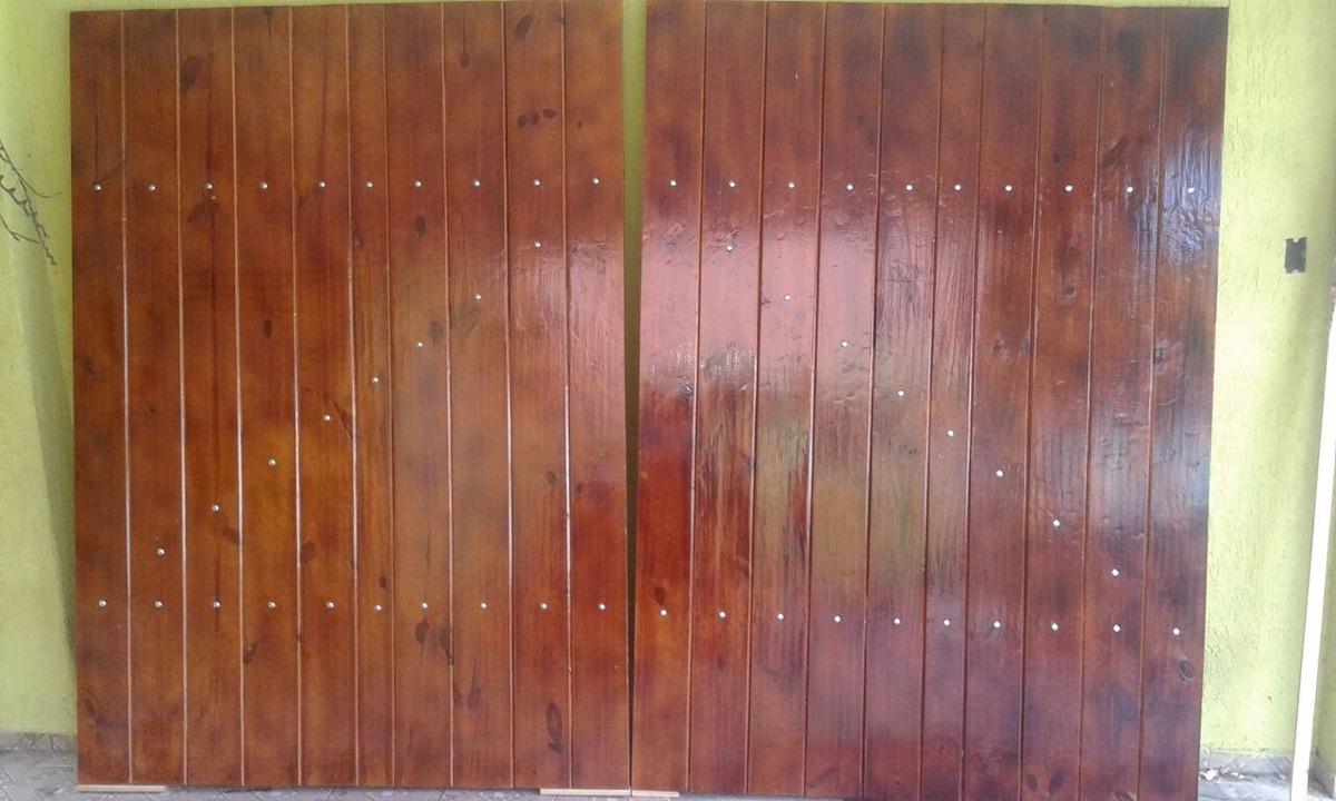 Portes De Garagem Em Madeira  R 165000 em Mercado Livre