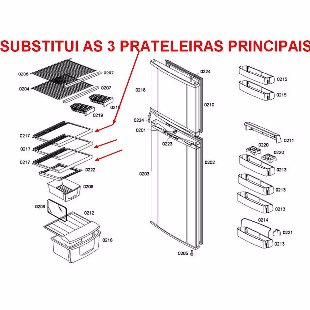 Prateleira Refrigerador Continental Rdv45 Rdv48 Grade