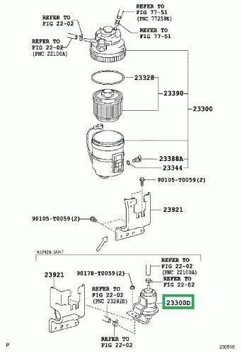 Pré-filtro Combustível Toyota Hilux Sw4 3.0 2013 A 2017