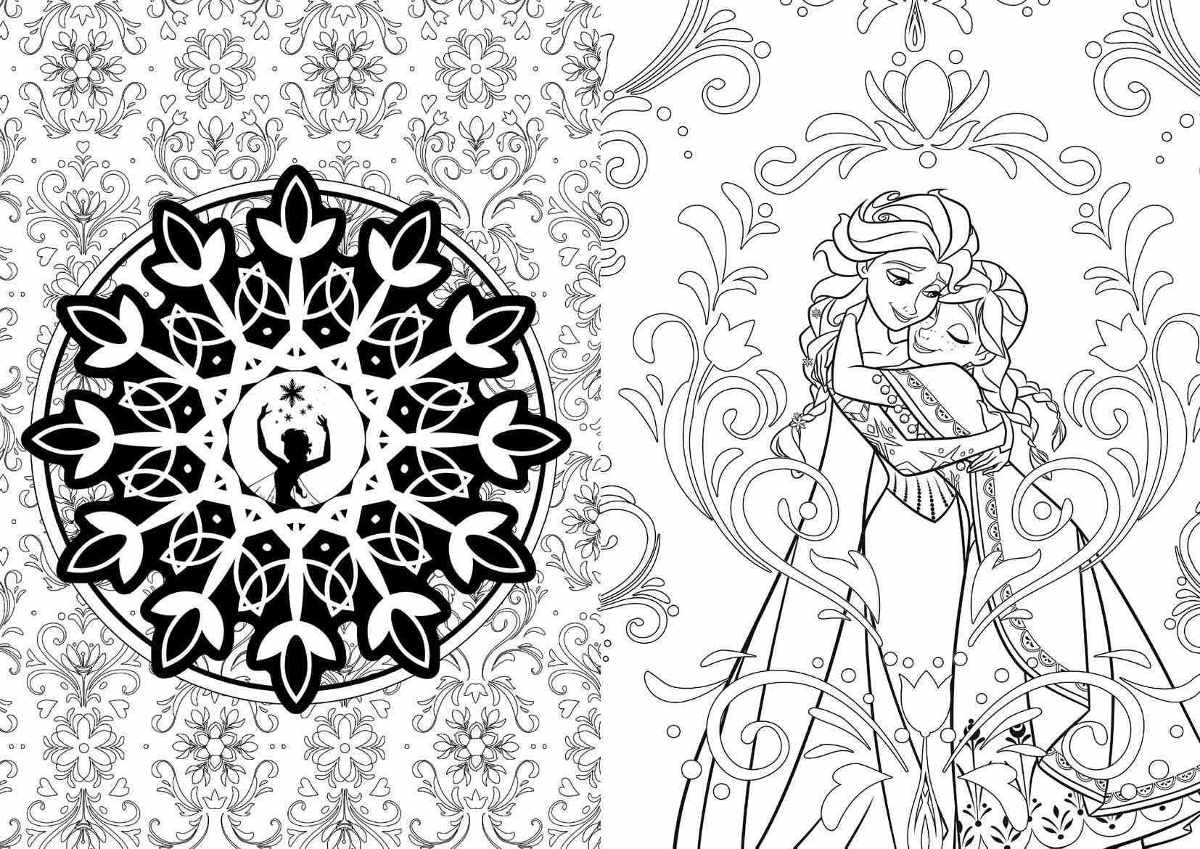 Princesas Disney Libro Colorear Mandalas Relajacion Nuevo