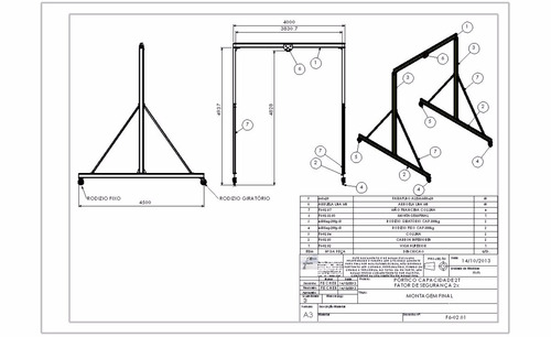 Projeto Pórtico Manual 2tn + Projeto Troley + 3 Brindes
