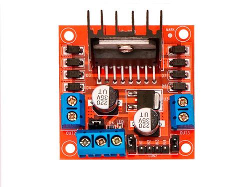 Puente H L298n Arduino Pic 5-24v 2a Robotica Electronica - $ 49.00 en Mercado Libre