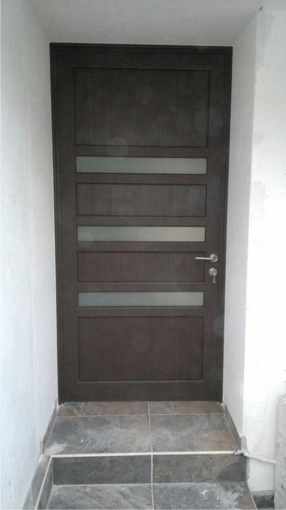 Puerta Principal De Aluminio Terminado Madera   580000