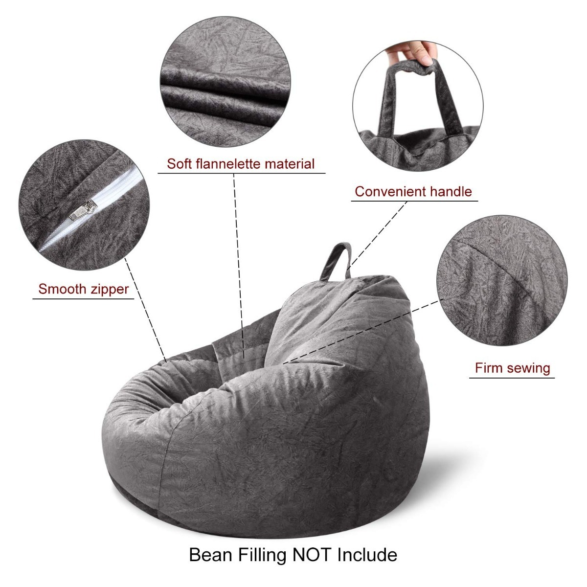Bean Bag Chair Covers Only Puff Funda Sillón Mftek Bean Bag Chair Cover Only Large