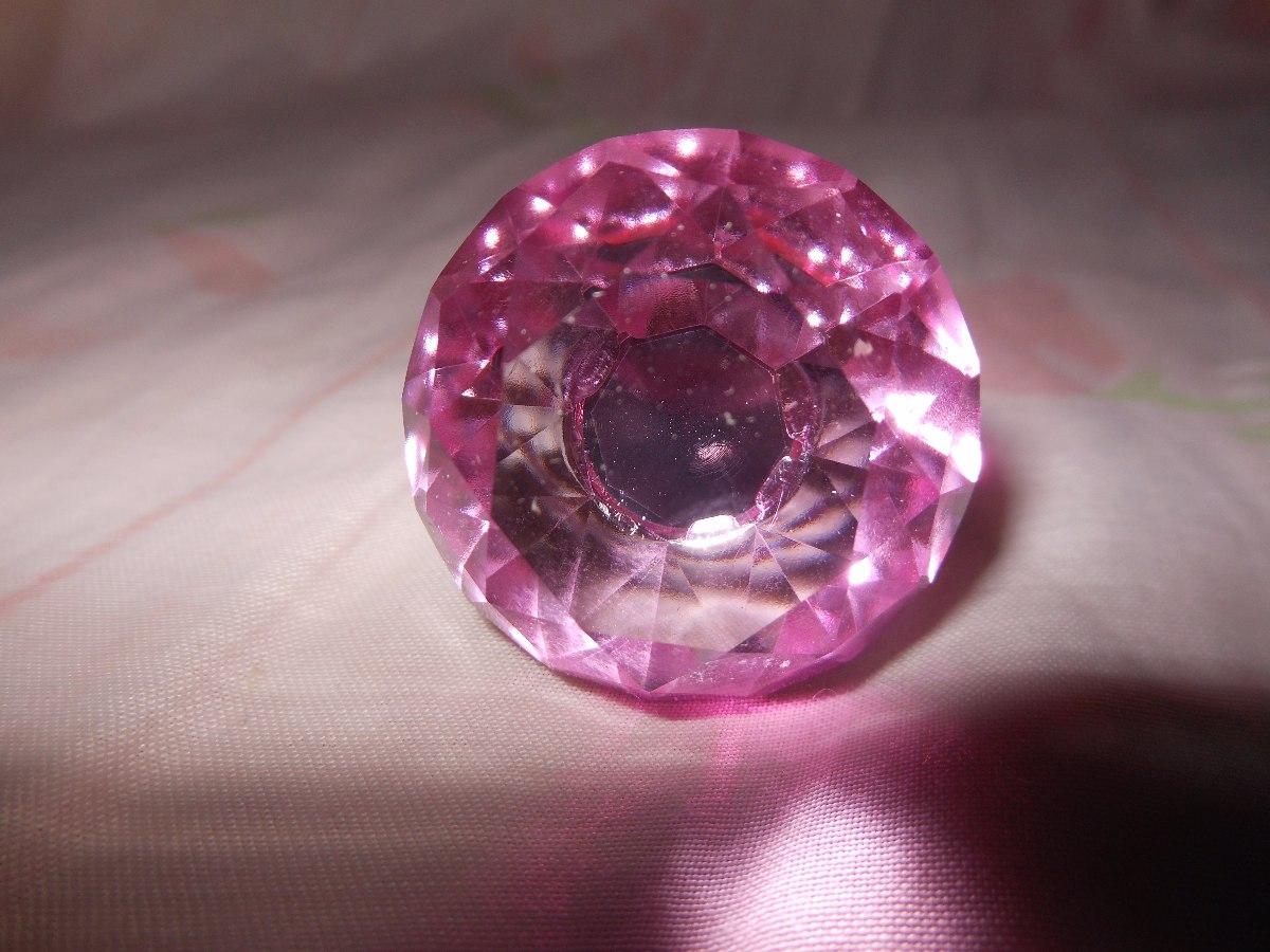 puxador diamante rosa para