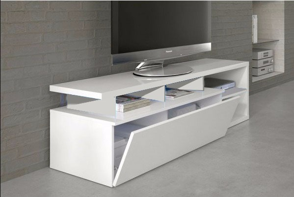 Rack Para Tv Mueble Bajo De Living Modelo Madrid   4699