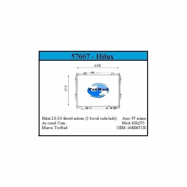 Radiador Toyota Hilux 2.8 3.0 Diesel Manual Ano 97 98 99