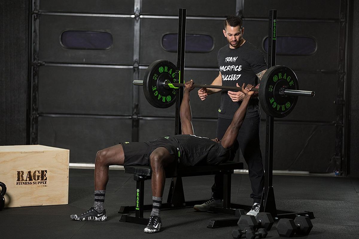 Rage Fitness Squat Squat Rack, Bastidor De Press De Banca
