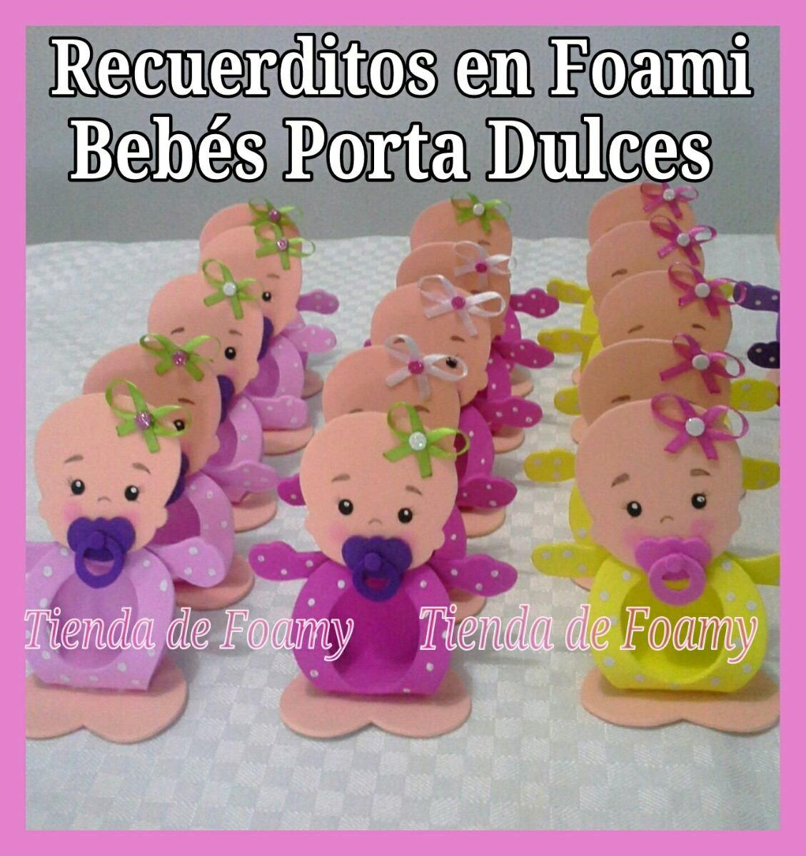 Recuerdo Baby Shower Nacimiento Foami Porta Dulces  Bs