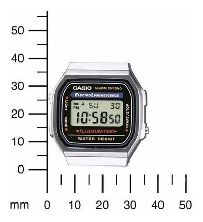 Relógio Casio A168wa1wdf Prata Unisex Retro Vintage
